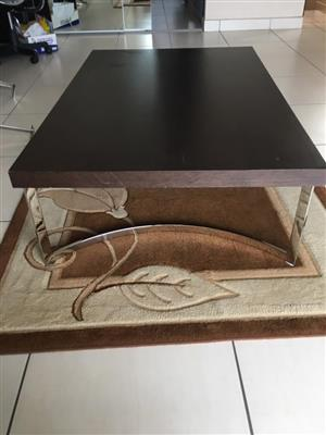 Dark wooden coffee table for sale