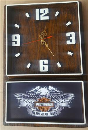 Harley Davidson Motor Clothes Box Clock. Brand New Product.