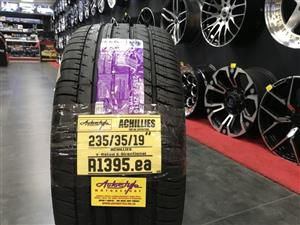 19 inch tyres tire 235-35-19 Achilles brand new