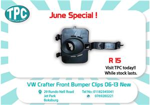 VW Crafter Front Bumper Clips 06-13 New for Sale at TPC