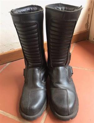 Mens leather Biker Boots