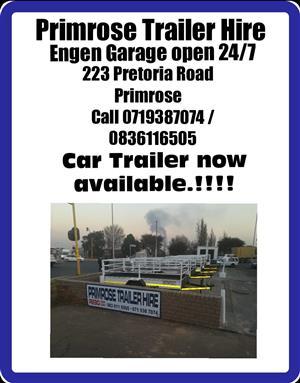 Trailer hire Primrose Engen Garage open24