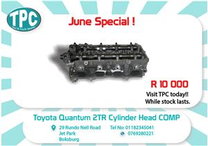Toyota Quantum 2 TR Cylinder Head New for Sale at TPC