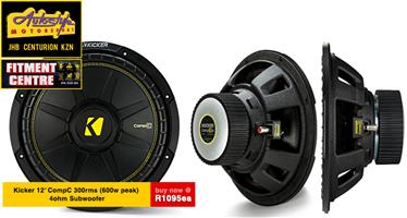 Kicker 12 inch Competition 300rms Subwoofer Kicker 44CWCS124 CompC Series