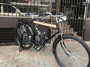 Vintage Moto Bicycle