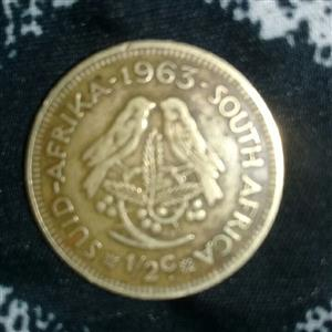 selling a old Van Riebeeck coin 1963