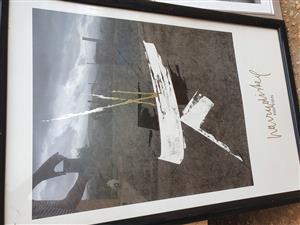 Harry Disberg Black and White Framed Art