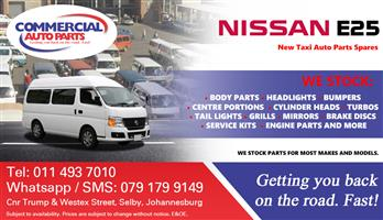 Nissan E25 Parts and Spares For Sale.