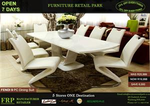 FENDI 9 PC DINING SUITE