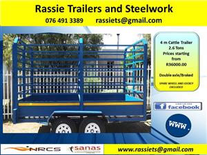 4 m Cattle Trailer 2.6 Tons for sale NRCS approved