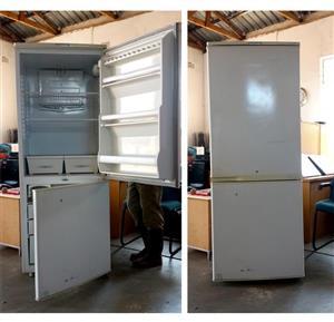 White fridge with freezer