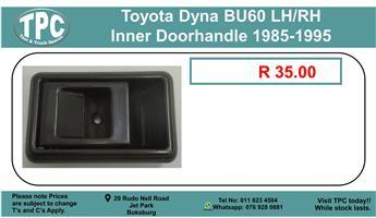 Toyota Dyna BU60 LH/RH Inner Doorhandle 1985-1995 For Sale.