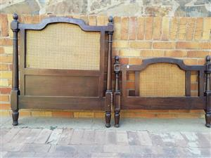 Vintage wooden double and single headboards