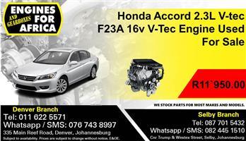 Honda Accord 2.3L V-tec F23A 16v V-Tec Engine Used For Sale.