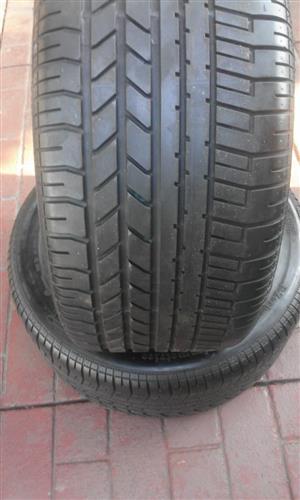 2xPirelli Pzero tyres 265/40/18 90% thread