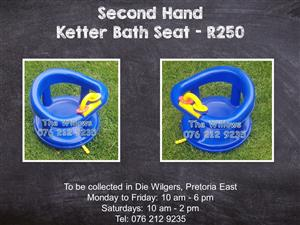 Second Hand Ketter Bath Seat