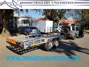 TRAILERS UNLIMITED CAR TRAILERS. DOUBLE AND SINGLE AXLE.
