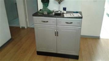 Silver 2 door cabinet
