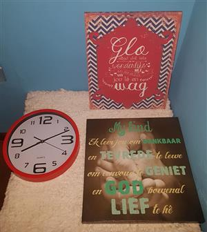 Clock and wall decor for sale
