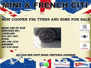 Mini cooper F56 tyres and rims for sale