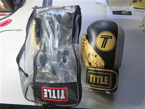 Leather Title Boxing gloves