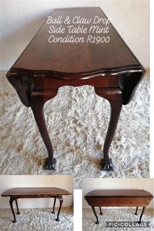 Ball & Claw Drop Side Table Mint Condition