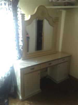 White mirror dresser for sale