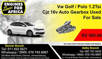 Vw Golf / Polo 1.2Tsi Cjz 16v Auto Gearbox Used For Sale.