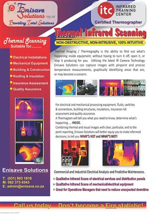 Infrared Thermal Imaging scanning by ITC certified thermographers.