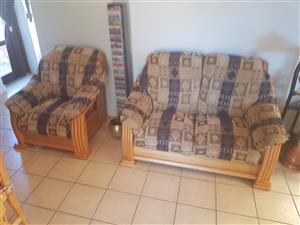 6 seater lounge set and plasma stand