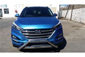 Hyundai Tucson Front nudge bar and rear bullbar both chrome.