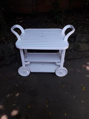 White pushing trolley for sale