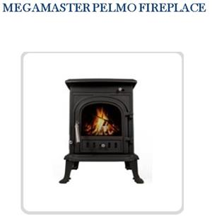 Megamaster Pelmo Fireplace & Megamaster 125mm flue kit