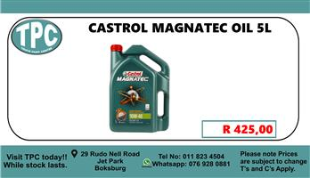 Castrol Magnatec Oil 5L  - For Sale at TPC.