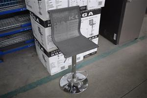 Silver adjustable bar chair