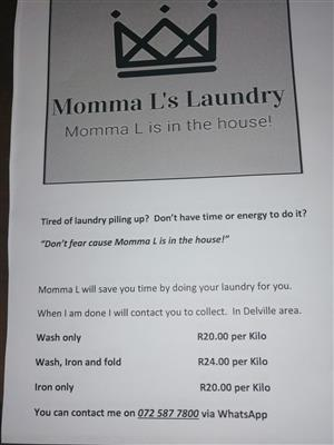 Momma L's Laundry services
