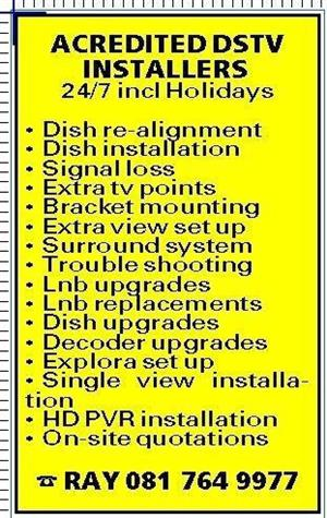 CALL 081 764 9977 dstv,ovhd installer in klapmuts,simondium,kliphuewel