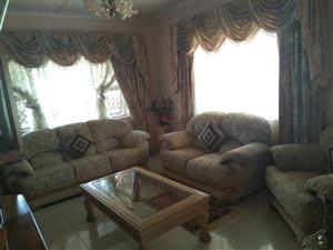 3 Piece Lounge suite and coffee table