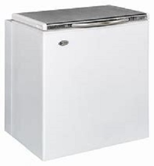 Zero Appliances Zero 120L Gas electric Chest Freezer – Black/White