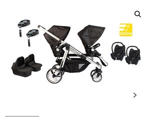 Double Trouble Twin Pram and Travel system