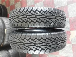235/85/16C Continental cross contact tyres for Landcruser