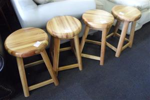 4x Wooden Bar Chairs