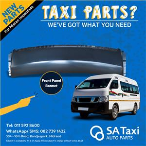 NEW Front Panel - Bonnet for Nissan NV350 Impendulo - SA Taxi Auto Parts quality spares