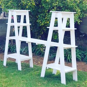 Two Tower White Stand For Hire