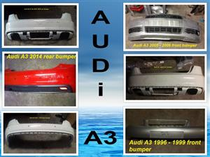 Audi A3 front and rear bumpers for sale for most vehicle makes and models.