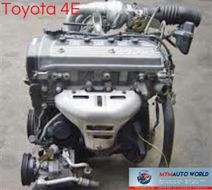 Imported used TOYOTA COROLLA 1.3L  TURBO, 4E TURBO engine Complete