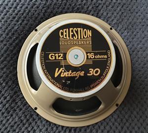 Celestion Vintage 30 - 12inch Guitar Speaker - 16 Ohm - UK Made