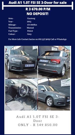 2015 Audi A1 Sportback 1.0TFSI SE auto