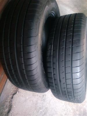 Two 90% Tread 235/65/17 Goodyear Eagle F1 Tyres