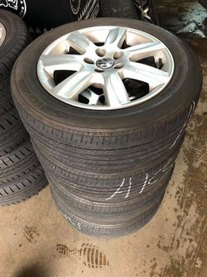 """Polo 15"""" rims and 70% remaining tread life on tyres."""